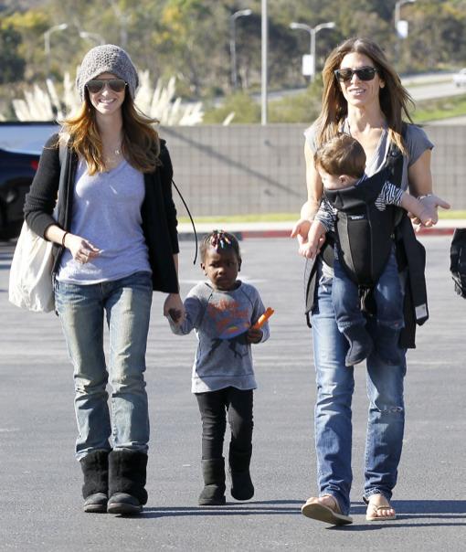 Jillian Michaels & Heidi Rhoades Take Their Kids To The Market