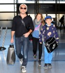 Jude Law And Kids Iris And Rudy Head To LAX To Catch A Flight Out Of Town