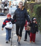 Julie Bowen Takes Her Kids To Farmers Market In Studio City