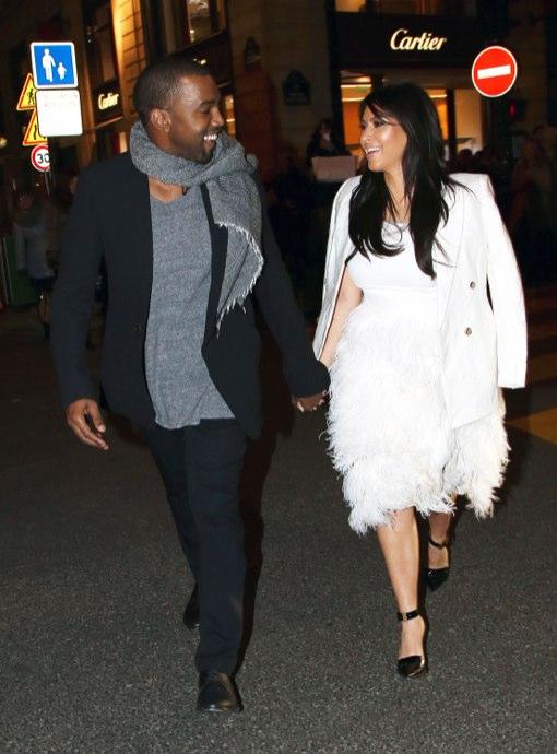 Kanye West Takes Pregnant Kim Kardashian Shopping in Paris