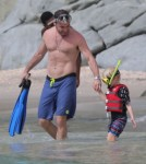 Naomi Watts & Liev Schreiber Take A Morning Swim