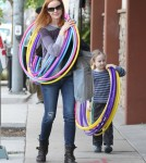 Marcia Cross Shops For Hula Hoops WIth Her Daughter