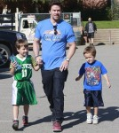 Mark Wahlberg Takes His Boys To Play Basketball