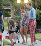 Exclusive... Nicole Richie And Family Leaving The Beverly Hills Hotel