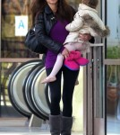 Oksana Grigorieva Takes Daughter Lucia To Ballet Class