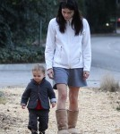 Exclusive... Selma Blair Frolics With Her Son Arthur At The Park
