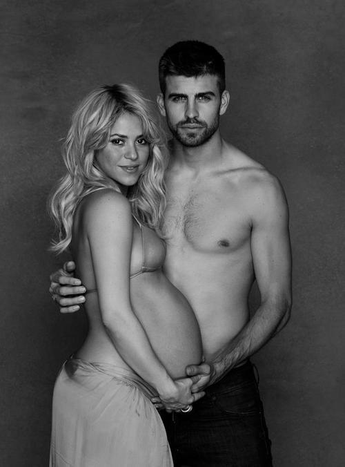 shakira-gerard-pique-maternity-photo