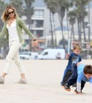 Sheryl Crow Takes Her Boys To The Beach