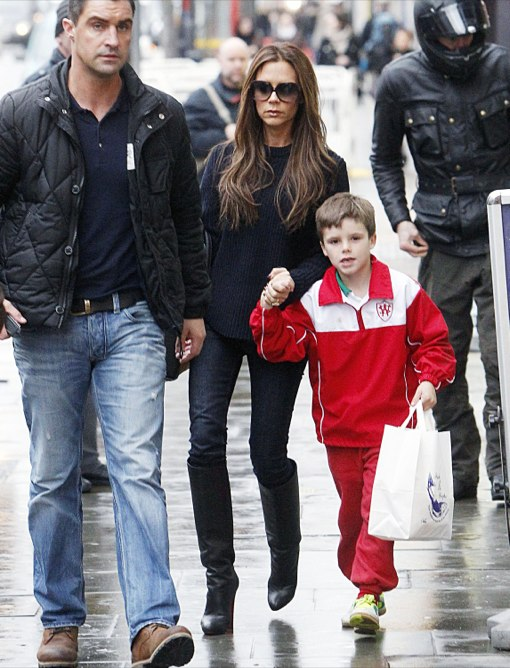 Victoria Beckham Picks Up Fish and Chips