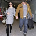 Channing Tatum And Jenna Dewan Arriving In London