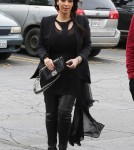 Semi-Exclusive... Kim & Rob Kardashian Visit Their Mom's Office