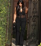 Pregnant Kim Kardashian Leaves Her Home
