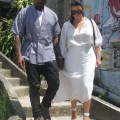 Kim & Kanye Continue Their Shantytown Tours With Will Smith