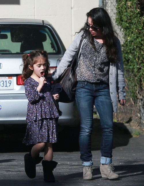 Salma Hayek's Daughter Valentina Pinault Leaving Her Music Class (Photos)