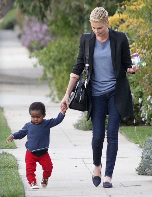Charlize Theron Takes Her Son Jackson To A Playdate