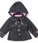 London Fog Polka Dot Kids Trench
