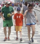 Harrison Ford, Calista Flockhart and son Liam Vacation in Rio