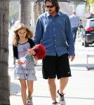 Semi-Exclusive... Christian Bale And His Family Dine At Kutsuya