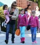 Exclusive... Denise Richards Picks Up Daughters From School