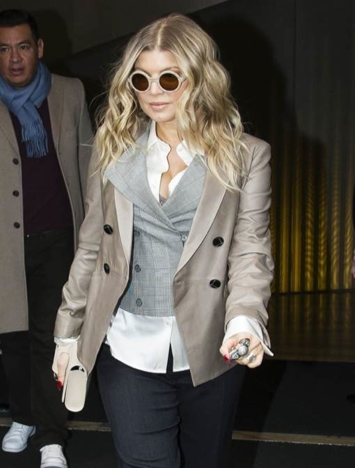 Pregnant Fergie Out Shopping In Milan