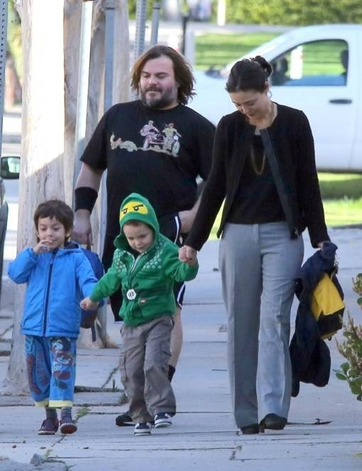 Jack Black Takes His Boys To School