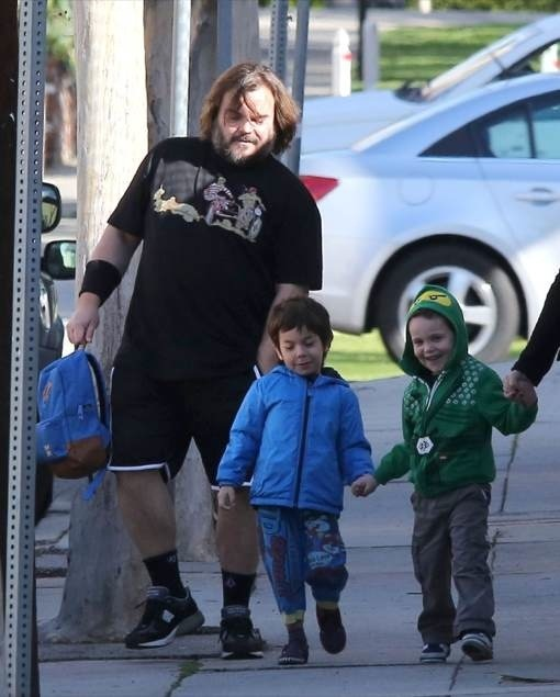 Jack Black Makes The School Run With Family