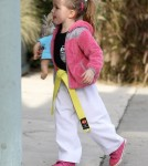Jennifer Garner Takes Seraphina to Karate