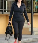 Kim Kardashian Hits The Gym Early