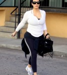 Kim Kardashian Gets In A Valentine's Day Workout