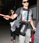 Megan Fox & Brian Austin Green Departing On A Flight At LAX