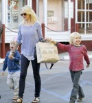 Naomi Watts Takes The Boys Shopping