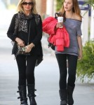 Olivia Newton-John & Daughter Chloe Stop By A Hair Salon