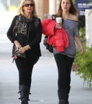 Exclusive... Olivia Newton-John & Daughter Chloe Stop By A Hair Salon