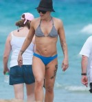 Semi-Exclusive... Pink Spends The Day On The Beach With Her Family