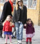 Sarah Jessica Parker Takes Her Girls To School
