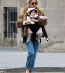 Sienna Miller Out And About With Her Daughter In NYC