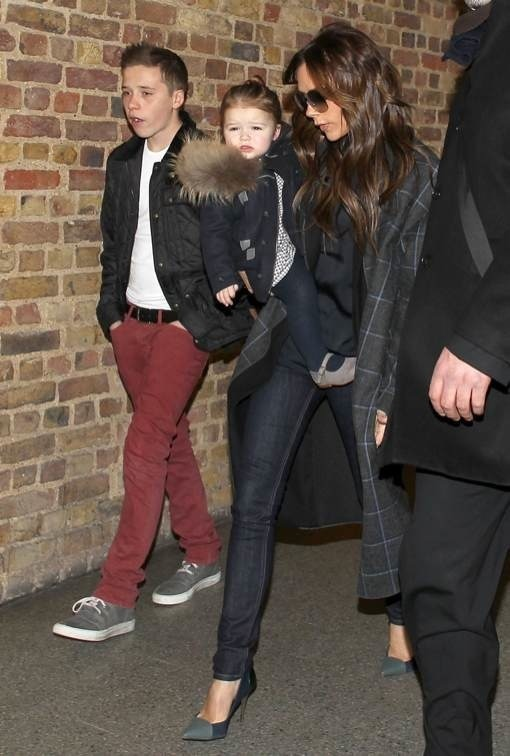 Victoria Beckham & Kids Return To London