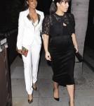 Kim Kardashian Eats Out With LaLa Vasquez