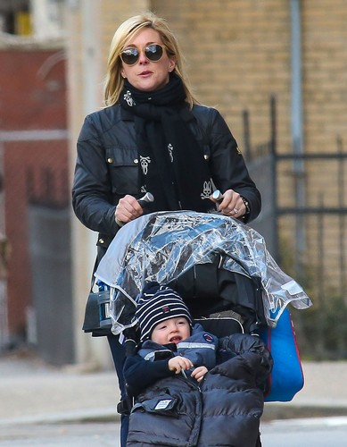 Jane Krakowski and Her Son Bennett Take A Walk In New York