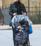 Jane Krakowski Takes Son Bennett For A Walk In New York