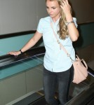 Britney Spears & Family Departing On A Flight At LAX