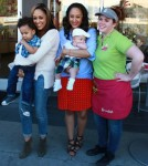 Tia & Tamera Mowry Film Their Reality Show At Menchies