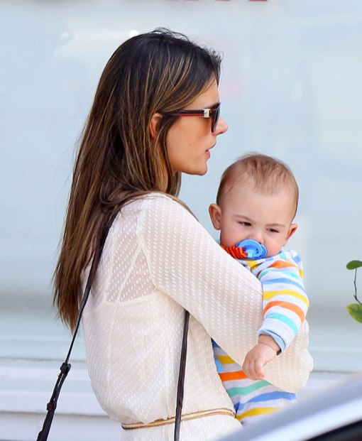 Alessandra Ambrosio & Children Enjoy Sunny Day at The Country Mart