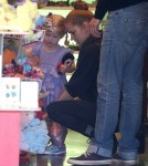 Amy Adams And Family Stop By Tom's Toys