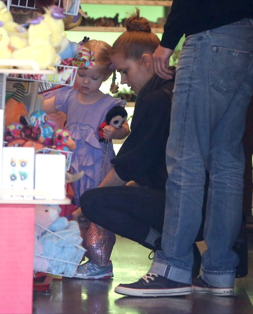 Amy Adams & Family Visit The Toy Shop