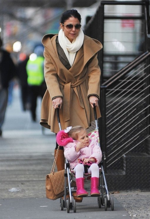 Bethenny Frankel Picks Up Bryn From School On a Cold Big Apple Day