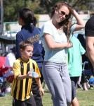 Britney Spears Watching Her Boys Play Soccer