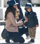 Camila Avles Takes Her Kids For A Stroll