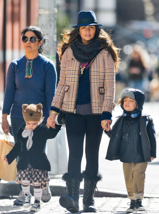 Camila Alves Stroll With Levi & Vida