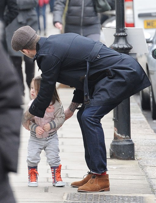 David Beckham Takes Harper Out In London